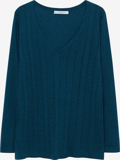 VIOLETA by Mango Pullover 'Cable' in cyanblau, Produktansicht