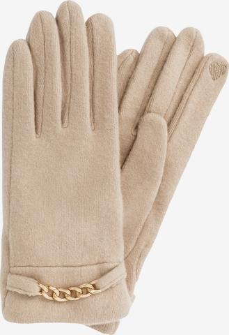 HALLHUBER Fingerhandschuhe in Beige