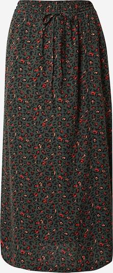Another Label Suknja 'Knapp' u tamno zelena / losos / narančasto crvena / crna, Pregled proizvoda