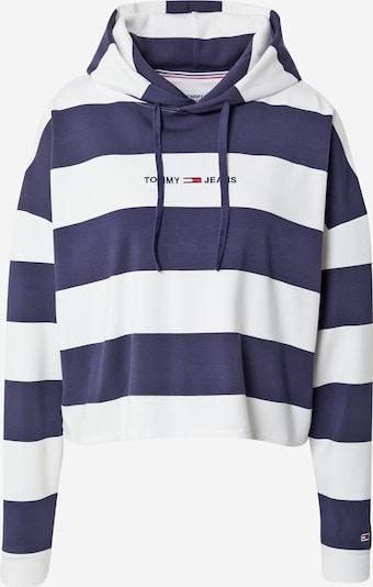 Tommy Jeans Sweat-shirt en bleu marine / rouge feu / blanc, Vue avec produit