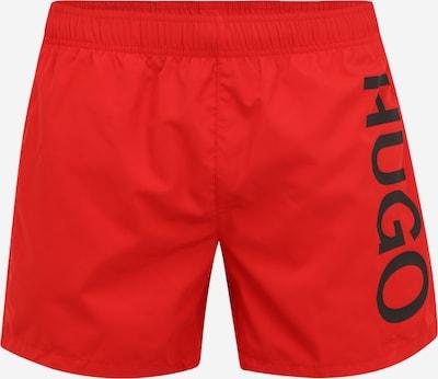 HUGO Shorts de bain 'ABAS' en rouge clair / noir, Vue avec produit