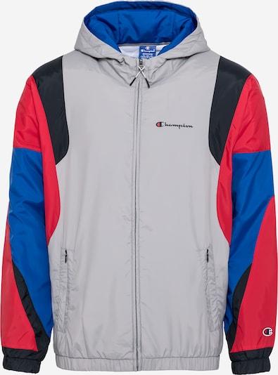 Champion Authentic Athletic Apparel Prechodná bunda - modrá / námornícka modrá / svetlosivá / svetločervená, Produkt