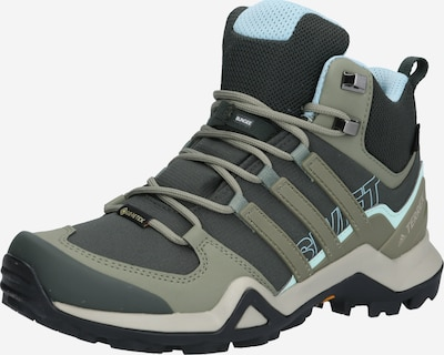 ADIDAS PERFORMANCE Boots 'TERREX' en bleu / olive / noir, Vue avec produit
