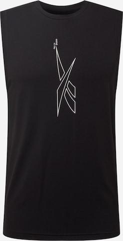 T-Shirt fonctionnel Reebok Sport en noir