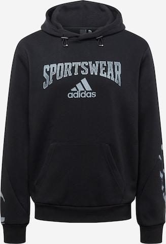 ADIDAS PERFORMANCE Спортен блузон с качулка в черно
