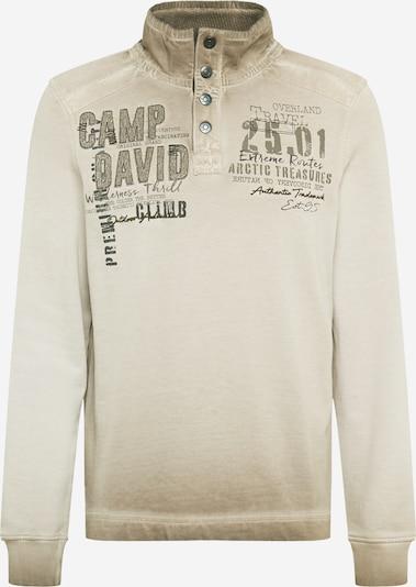CAMP DAVID Sweatshirt in hellbraun / schwarz, Produktansicht