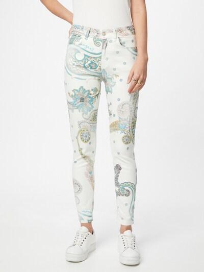 Desigual Kalhoty - tyrkysová / tmavě šedá / zelená / starorůžová / bílá, Model/ka