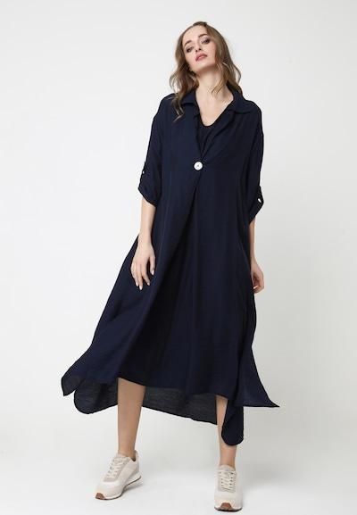 Madam-T MAXIKLEID 'GILBERTA' in blau, Modelansicht