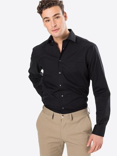 SEIDENSTICKER Hemd in schwarz: Frontalansicht
