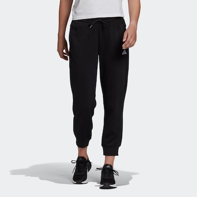 ADIDAS PERFORMANCE Športové nohavice 'Essentials' - čierna / biela, Model/-ka