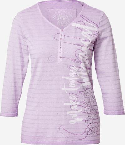 Soccx T-shirt en violet / argent / blanc, Vue avec produit