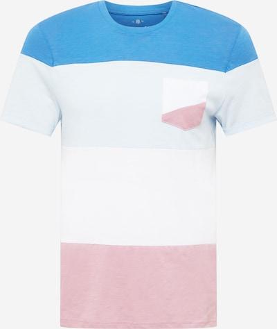 Mavi T-Shirt in kobaltblau / hellgrau / hellrot / weiß, Produktansicht