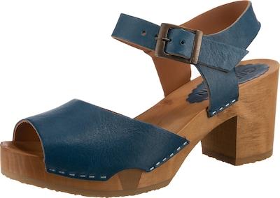 Grünbein Betty Plateau-Sandaletten in blau, Produktansicht