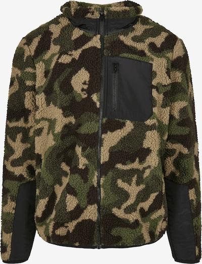 Urban Classics Flisová bunda - béžová / hnedá / kaki / čierna, Produkt