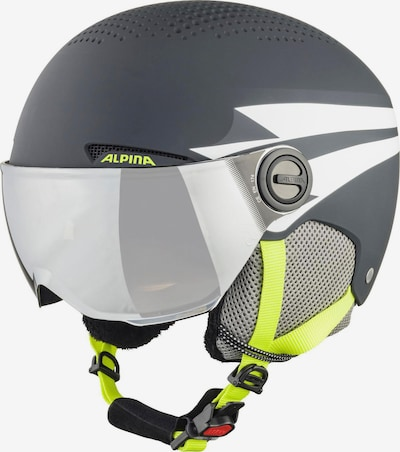 Alpina Skihelm 'Zupo' in gelb / dunkelgrau, Produktansicht