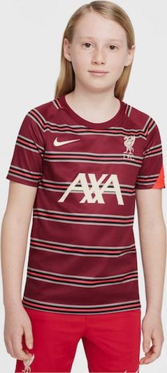 NIKE Shirt in hellgrau / orange / rot / schwarz, Produktansicht