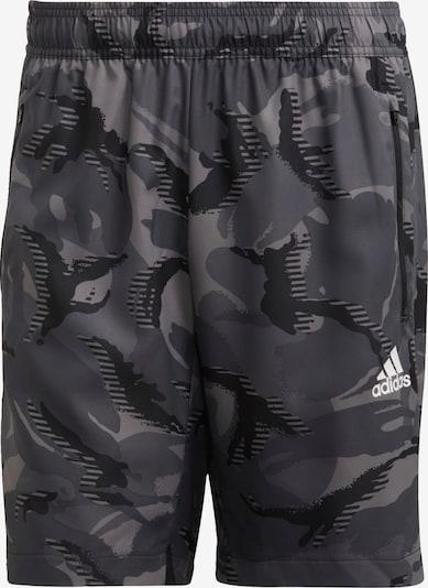 ADIDAS PERFORMANCE Pantalón deportivo en gris humo / gris oscuro / negro / blanco, Vista del producto