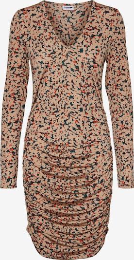 Noisy may Kleid in hellbraun / dunkelgrün / dunkelorange, Produktansicht