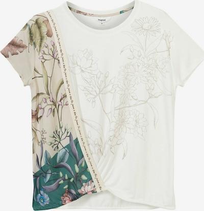 Tricou 'EDIMBURGO' Desigual pe culoarea pielii / verde petrol / mov liliachiu / roz pal / alb, Vizualizare produs
