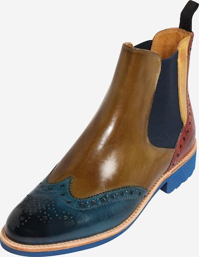 MELVIN & HAMILTON Chelsea čizme 'Selina 6' u azur / smeđa / kaki, Pregled proizvoda