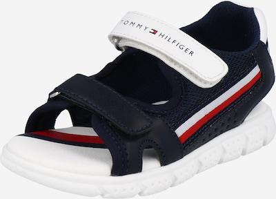 TOMMY HILFIGER Otvorene cipele 'VELCRO' u mornarsko plava / bijela, Pregled proizvoda