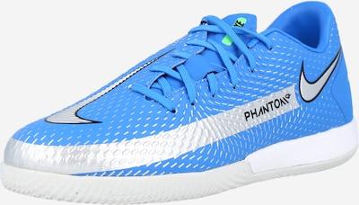NIKE Voetbalschoen 'Phantom GT Academy' in de kleur Lichtblauw / Zwart / Zilver, Productweergave
