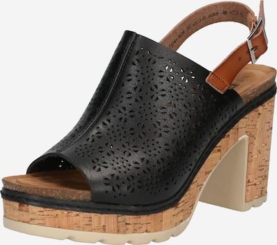 Sandale Refresh pe maro caramel / negru, Vizualizare produs