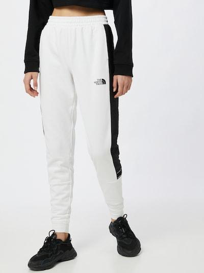 THE NORTH FACE Športové nohavice - čierna / biela: Pohľad spredu