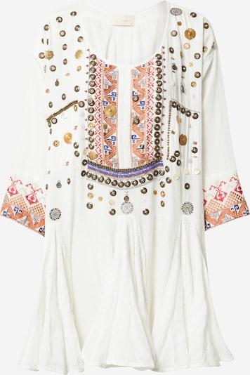 Mes Demoiselles Tuniek 'KOOKS' in de kleur Gemengde kleuren / Wit, Productweergave