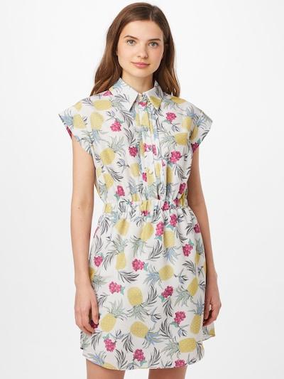 Trendyol Robe-chemise en mélange de couleurs / blanc, Vue avec modèle