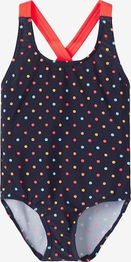 NAME IT Badpak 'Zamara' in de kleur Lichtblauw / Donkerblauw / Goudgeel / Koraal / Lichtrood, Productweergave