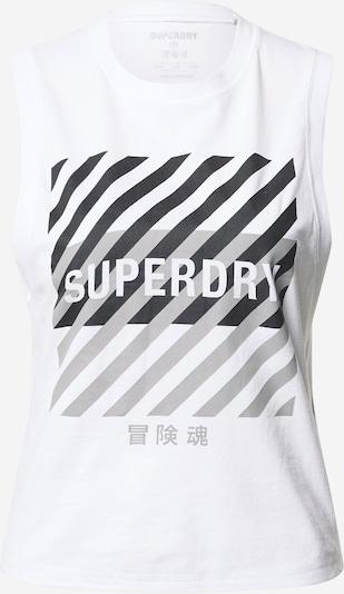 Superdry Športni top | siva / črna / bela barva, Prikaz izdelka