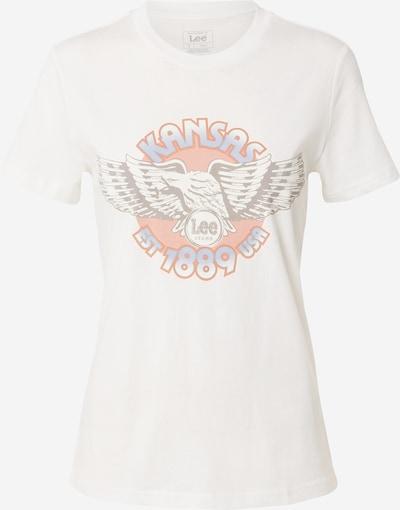 Lee T-shirt i beige / ljusblå / persika, Produktvy