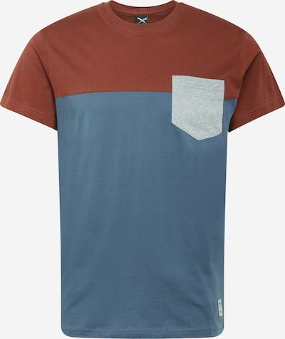 Iriedaily Shirt in de kleur Smoky blue / Roestbruin / Lichtgrijs, Productweergave