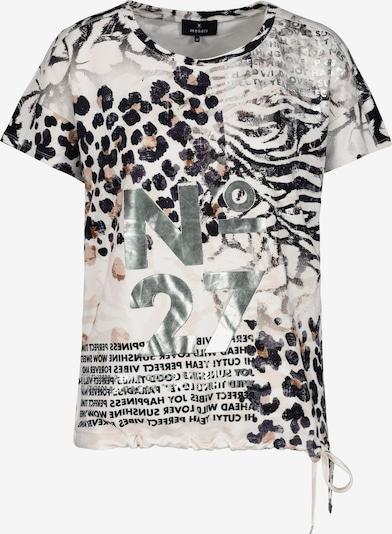 monari T-shirt en beige / noir / argent / blanc cassé, Vue avec produit
