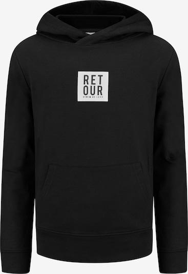 Retour Jeans Sweatshirt 'Gino' in schwarz / weiß, Produktansicht