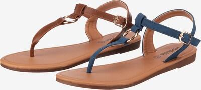 ambellis Sandale in dunkelblau / braun, Produktansicht