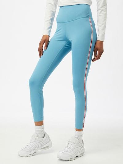 NIKE Sportsbukser i lyseblå / melon / hvid: Frontvisning