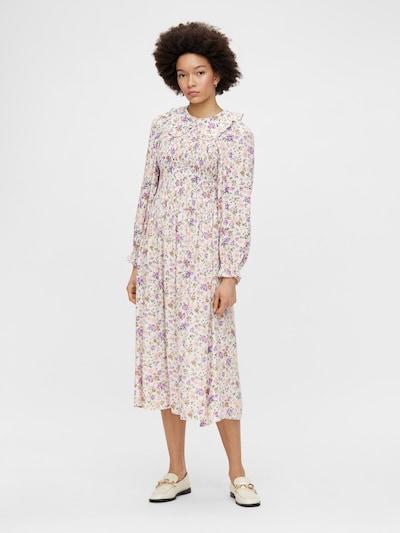 PIECES Kleid 'Lauri' in mischfarben / weiß, Modelansicht