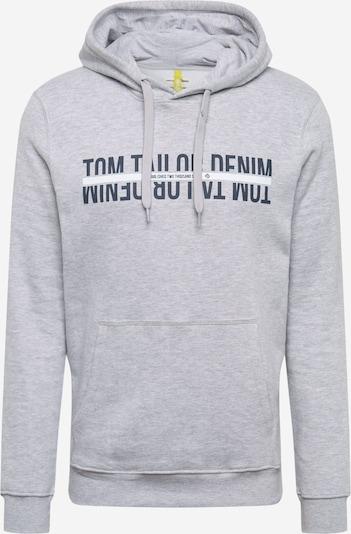 TOM TAILOR DENIM Sweatshirt in graphit / graumeliert / weiß, Produktansicht