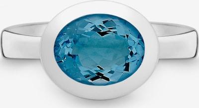 Quinn Ring in blau / silber, Produktansicht