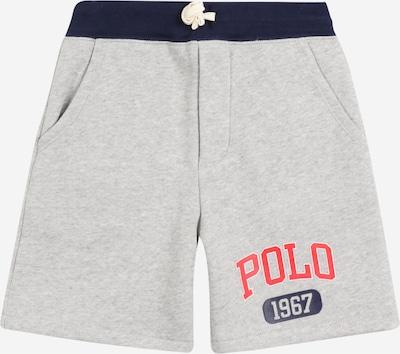 POLO RALPH LAUREN Nohavice - námornícka modrá / sivá melírovaná / svetločervená / biela, Produkt