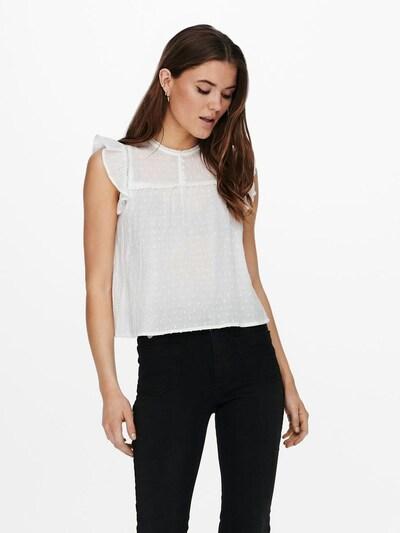 Bluză 'ONLTara' ONLY pe alb, Vizualizare model