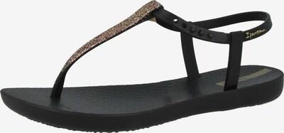 Ipanema Sandalen 'Charm' in de kleur Goud / Zwart, Productweergave