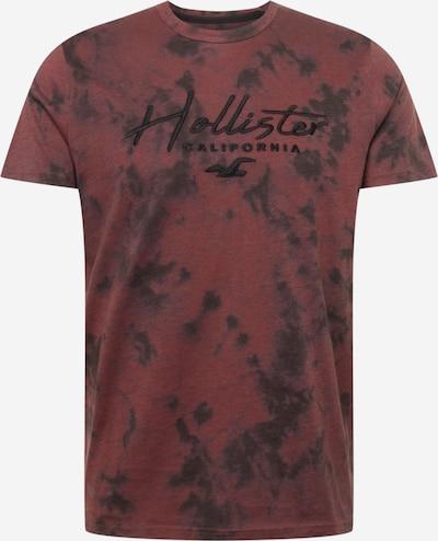 HOLLISTER Tričko - tmavočervená / čierna, Produkt