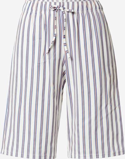 CALIDA Pantalon de pyjama en bleu / corail / blanc, Vue avec produit