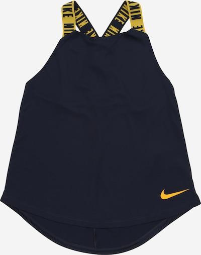 NIKE Sportovní top 'ELASTIKA' - tmavě modrá / zlatě žlutá, Produkt