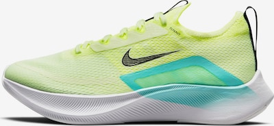 NIKE Running Shoes 'ZOOM FLY 4' in Turquoise / Light yellow / Black, Item view