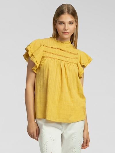 APART Bluse mit kurzen Volantsärmeln in senf, Modelansicht