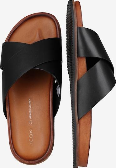 COX Pantoletten Leder-Pantolette in schwarz TcObDeRQ